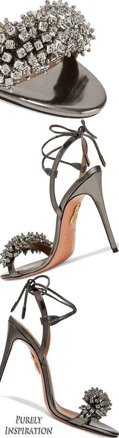 Aquazzara Monaco crystal-embellished sandals | Purely Inspiration