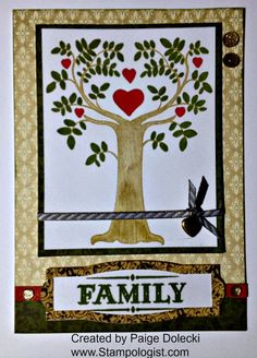 Paige Dolecki - Stampologist: September 2014 Stamp of the Month Family is Forever