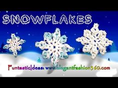 Rainbow Loom Snowflake 2D Charms - How to Loom Bands Holiday/Christmas/Winter/Ornaments - YouTube