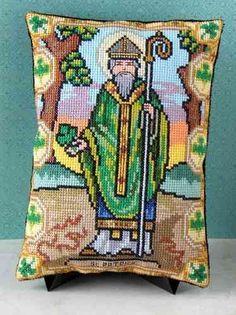 St Patrick Mini Cushion Cross Stitch Kit
