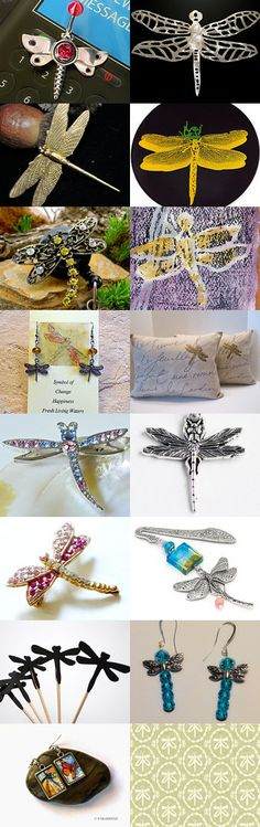 Dragonfly, dragonfly - where are you off to? by Hookin' to the Beat on Etsy