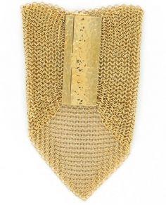 Natalie Dissel mesh gold bracelet