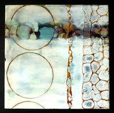 """""""The Cloud"""" by Laura Van Horne - encaustic"""