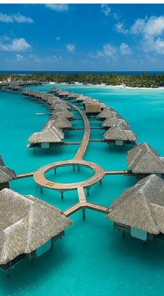 Over water Four Seasons Resort ~ Bora Bora