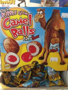 Terrible Packaging and Labels Camel Balls