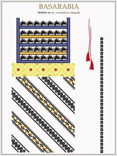 traditional Romanian pattern - north of Bessarabia Folk Embroidery, Embroidery Patterns, Stitch Patterns, Moldova, Hama Beads, Creative Inspiration, Romania, Beading Patterns, Diy Tutorial