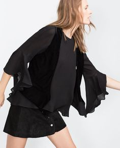 Image 1 of FRILL TOP from Zara