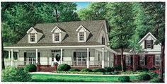 House Plan 67089 | Country Plan with 2519 Sq. Ft., 4 Bedrooms, 4 Bathrooms, 2 Car Garage