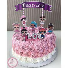 Doll Birthday Cake, Paw Patrol Birthday Cake, Funny Birthday Cakes, Bolo Miraculous Ladybug, Surprise Cake, Surprise Birthday, Homemade Crunchwrap, Sofia Cake, Lol Doll Cake