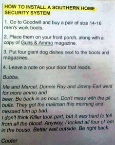 The right way to install a security system!