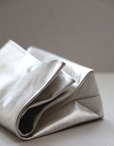 clutch inspired by paper bags. by portuguese brand 'anve'