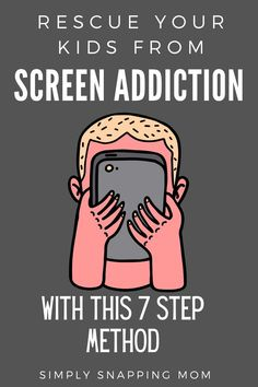 ADHD Kids are more likely to become addicted to screens. If you've gotten yourself in a bad situation with screens these tips will help get you out. Kids And Parenting, Parenting Hacks, Gentle Parenting, Peaceful Parenting, Parenting Quotes, Screen Time For Kids, Adhd Kids, Kids Behavior, Raising Kids