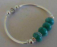 Turquoise Bangle Bracelet by beadedblisscreations on Etsy, $18.00