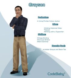 Grayson! #CodeBaby #CIVA #VirtualAssistant #FeaturedCharacter #writer
