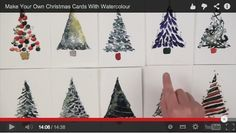 10 Quick & Simple Christmas Cards with Watercolour. In this 15 minute video, Sian Dudley shows how to create very simple yet eye-catching personal christmas cards for your friends and family