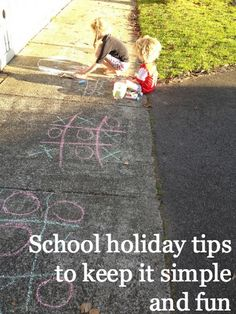 school holiday tips to keep you sane and the kids having fun, without breaking the budget