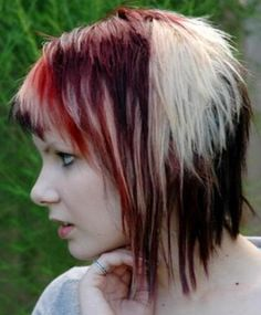 ... Short punk hairstyles, Cool short hairstyles and Layered inverted bob