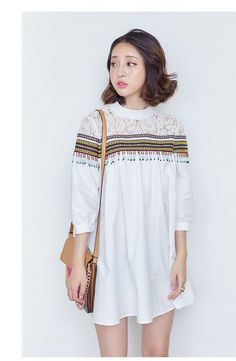 Korean fashion sleeve striped top AddOneClothing.com Size Chart