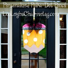 Pencil Door Hanger Classroom Door Hanger Teacher by LooLeighsCharm, $45.00