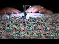 DIY: liberty print oven mitt. Could really use any fabric, obviously, but I like the fact that it's a video.
