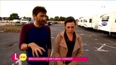 VIDEO: Behind The Scenes Look At Broadchurch With Lorraine        Today's episode of morning TV show Lorraine, which was today hosted by Christine Bleakley, had a behind the scenes look at the new serie...