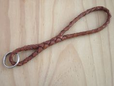 Keychain Leather Plaited Kangaroo Leather - The Infinity Keychain.