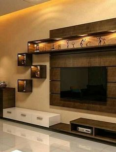 Tv wall decor, tv wall design и interior design kitchen. Living Room Partition Design, Tv Wall Design, Design Case, Living Room Tv Unit Designs, Stand Design, Ceiling Design, Tv Unit For Bedroom, Tv Wall Unit Designs, Wall Showcase Design