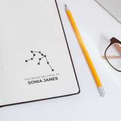 zodiac custom library stamp, custom zodiac constellation gift for readers, custom constellation this book belongs to, from the library of Stamp Pad, Logo Stamp, Custom Stamps, Custom Logos, Business Stamps, Modern Books, Gifts For Readers, Zodiac Constellations, Original Gifts
