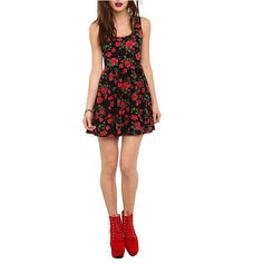 Red Rose Dress   Hot Topic ($20) ❤ liked on Polyvore