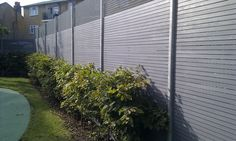 Grey garden fence