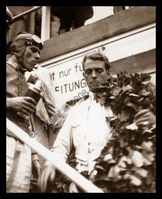Eifelrennen 1936 , Bernd Rosemeyer (winner first place) , with Tazio Nuvolari (second)...