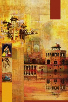 Mughal Art Art Print by Catf. All prints are professionally printed, packaged, and shipped within 3 - 4 business days. Choose from multiple sizes and hundreds of frame and mat options. Mughal Paintings, Indian Art Paintings, Watercolor Texture, Abstract Watercolor, Painting Abstract, Watercolor Postcard, Arabesque, Pakistan Art, Composition Painting