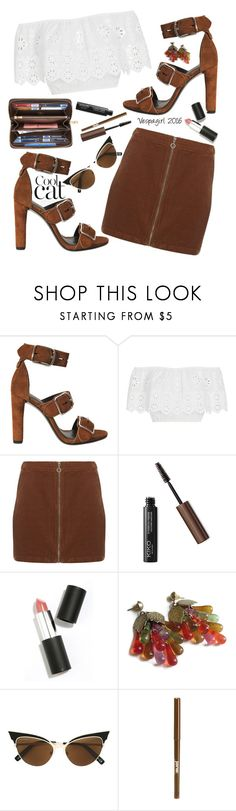"""""""Cool cat summer style"""" by vespagirl ❤ liked on Polyvore featuring Alexander Wang, Miguelina, Dorothy Perkins, Louis Vuitton, Sigma Beauty, Dsquared2 and jane"""