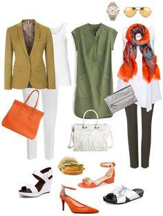 Ensemble: Olive, Orange & White - YLF