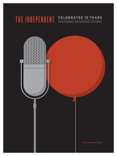 The Independent Anniversary Affiche par Jason Munn Screen Print Poster, Poster Prints, Jason Munn, San Francisco Museums, 10 Anniversary, Typography Poster, Illustrations And Posters, Museum Of Modern Art, 10 Years