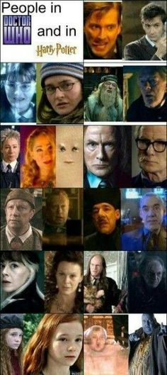 People in Doctor Who and Harry Potter by mangoa