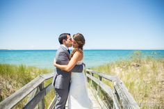 lake michigan beach wedding photo at The Homestead in Glen Arbor by Paul Retherford Photography, http://www.PaulRetherford.com #TheHomestead #TheHomesteadWedding #GlenArbor #NorthernMichigan #LakeMichigan #Wedding