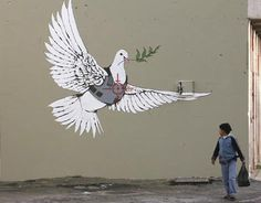 Coolest Banksy Graffiti - Wonderful                                                                                                                                                                                 More