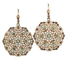 La Vie Parisienne Gold Filigree Earrings