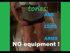 NO EQUIPMENT full body toning workout REAL TIME Toning Workouts, Workout Videos, Full Body, Abs, Fitness, Youtube, Wedding, Valentines Day Weddings, Crunches