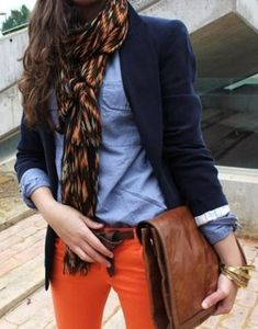 Brillant combination - Blues with orange pants