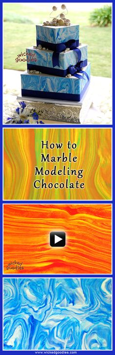 How to Marbleize Modeling Chocolate - VIDEO tutorial for cake decorating by Wicked Goodies