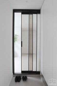 아파트 인테리어]Sun Kyung Ah, with a cozy and clean atmosphere … Apartment Interior, Living Room Interior, Door Design, House Design, Steel Doors And Windows, Aluminium Doors, Iron Doors, Home Fashion, House Plans