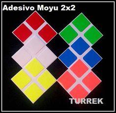 adesivo cubo mágico moyu 2x2 envio rapido