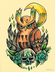 Tribal Noctowl by Retkikosmos