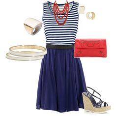 4th of July, created by yjmunson on Polyvore