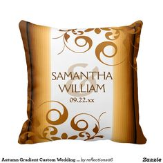 Autumn Gradient Custom Wedding Pillow