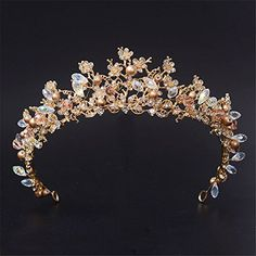 Cheap tiara, Buy Quality tiara wedding directly from China crown pageant Suppliers: 2017 Fashion Magnificent Diadem Clear Crystal Bridal Tiaras Flower Wedding Crown for Bride Wedding Pageant Hair Accessories Bridesmaid Hair Accessories, Wedding Accessories, Jewelry Accessories, Pageant Hair, Gold Tiara, Vintage Wedding Hair, Bridal Crown, Wedding Veils, Hair Wedding
