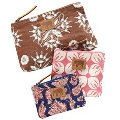 Cosmetics and toiletry bags by John Robshaw.