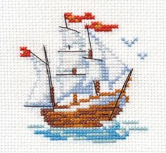 Little Ship Cross Stitch Kit, You can cause very specific patterns for fabrics with cross stitch. Cross stitch versions may nearly amaze you. Cross stitch newcomers can make the versions they want without difficulty. Hedgehog Cross Stitch, Cross Stitch Sea, Cross Stitch Fabric, Cross Stitch Cards, Simple Cross Stitch, Cross Stitch Borders, Modern Cross Stitch, Counted Cross Stitch Patterns, Cross Stitch Designs
